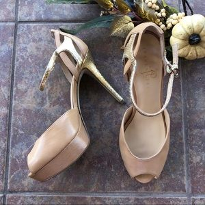 Ivanka Trump Italoise Nude Leather Pumps Size 8.5